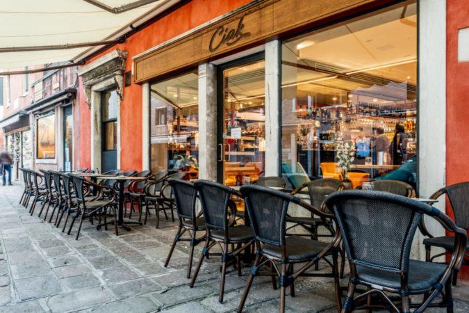Il bar Ciack in campiello San Tomà a Venezia