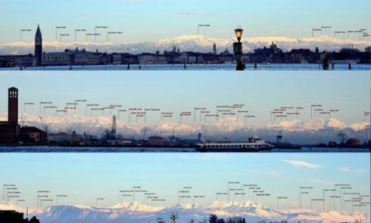 Venezia e le Dolomiti: uno skyline da perdere il fiato