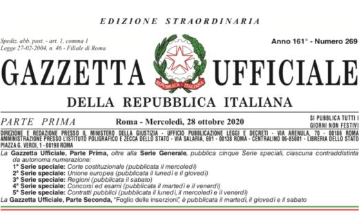 Decreto Ristori: il testo ufficiale e le proiezioni sul Veneto
