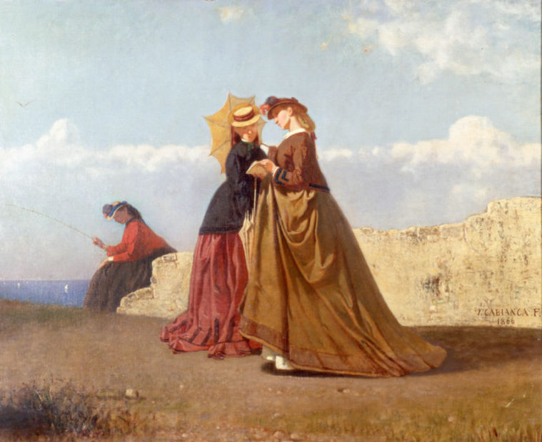 Vincenzo Cabianca, Al sole, 1866, Olio su tela, cm. 75x90, Bologna, collezione privata