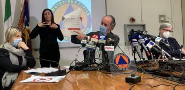 Zaia conferenza stampa 26 novembre 2020
