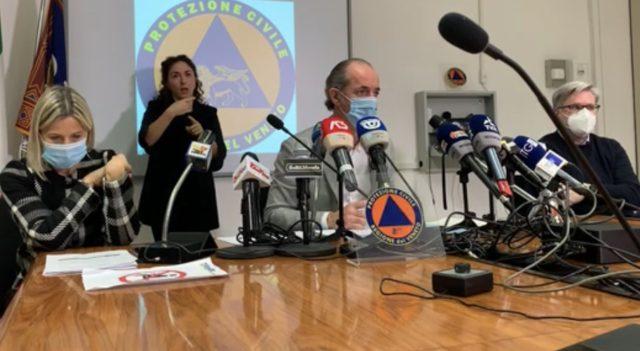 Luca Zaia conferenza stampa 25 novembre 2020