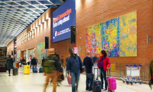 All'aeroporto Marco Polo di Tessera si viaggia a colori