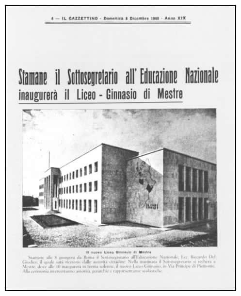locandina inaugurazione liceo Franchetti