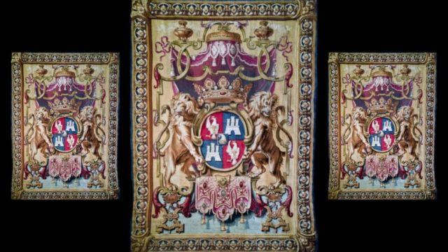 Manifattura francese, stemma della famiglia Tiepolo