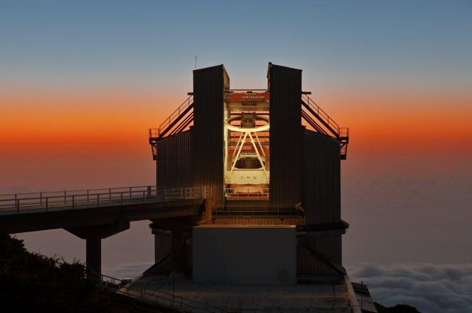 Il Telescopio Nazionale Galileo di La Palma (isole Canarie), posto a 2400 slm. Il TNG ospita lo spettrografo HARPS-N con il quale si misurano le masse degli esopianeti