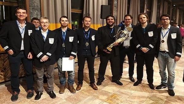 La squadra padovana, vincitrice dell'ultimo campionato di scacchi europeo a squadre (2020)