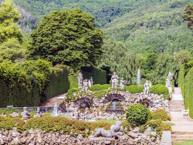 """Particolare delle Peschiere del Decumano o """"Viale delle Peschiere"""" o """"Teatro d'acqua"""" del Giardino di Valsanzibio @Tenuta Valsanzibio srl"""