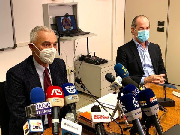 Zaia e Palù conferenza stampa 15 gennaio 2021
