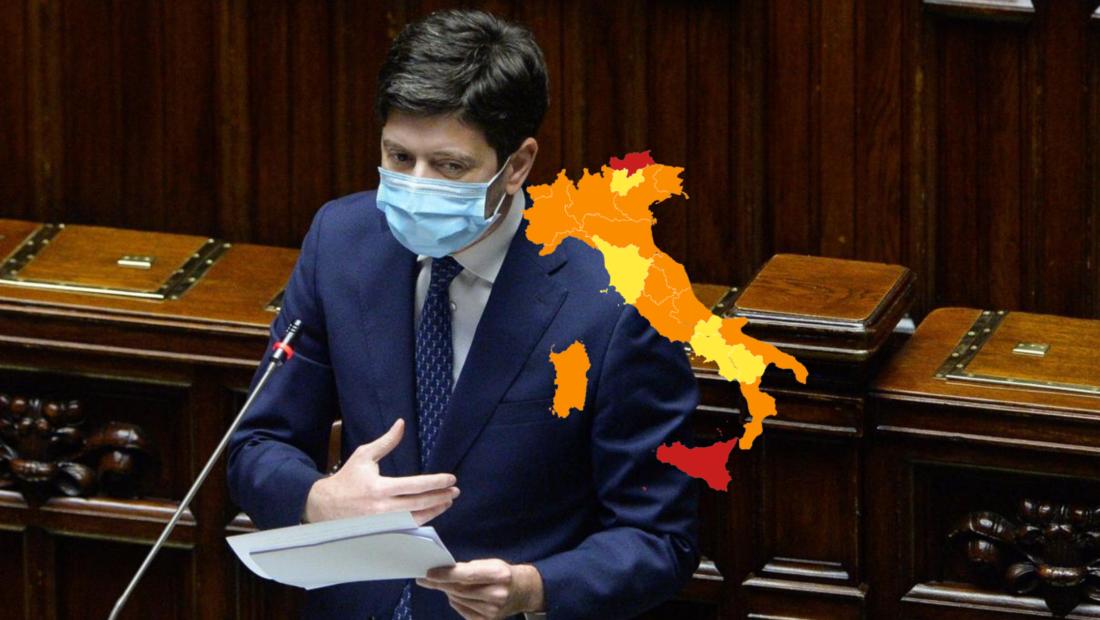 Speranza firma l'ordinanza: ecco i colori delle regioni italiane