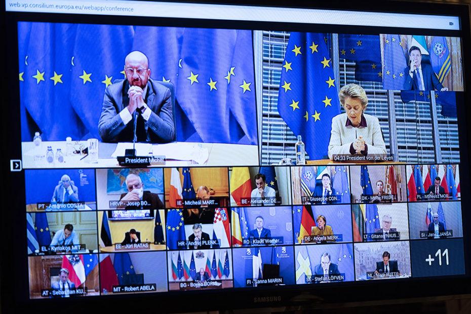 Videoconferenza stati Commissione europea- credits @Governoit