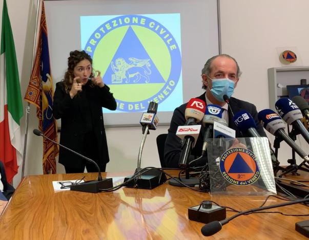 Coronavirus, Zaia: a oggi Veneto resterà arancione