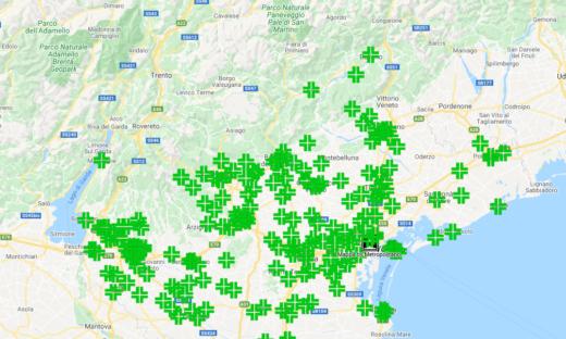 Veneto: tutte le farmacie in cui fare il tampone. La mappa interattiva di Metropolitano.it
