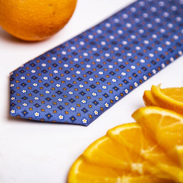 Cravatta Marinella- Orange Fiber