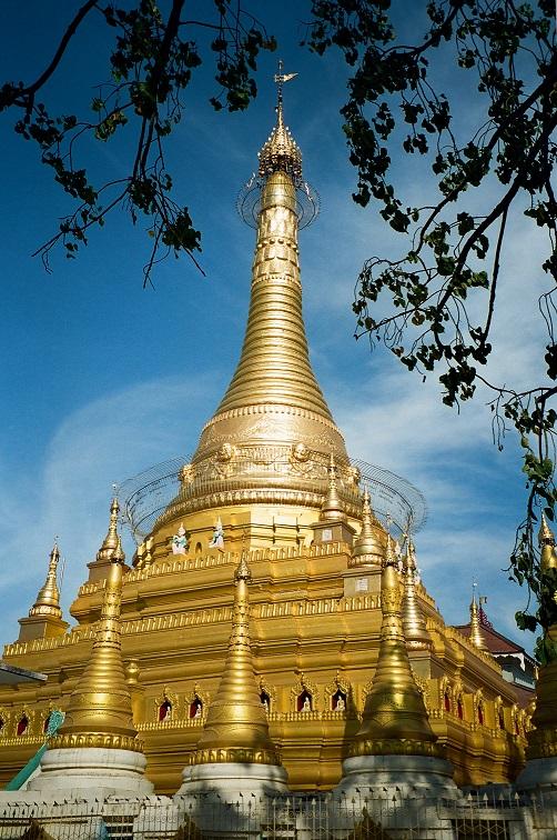 Monywa particolare pagoda di Thanboddhay Birmania