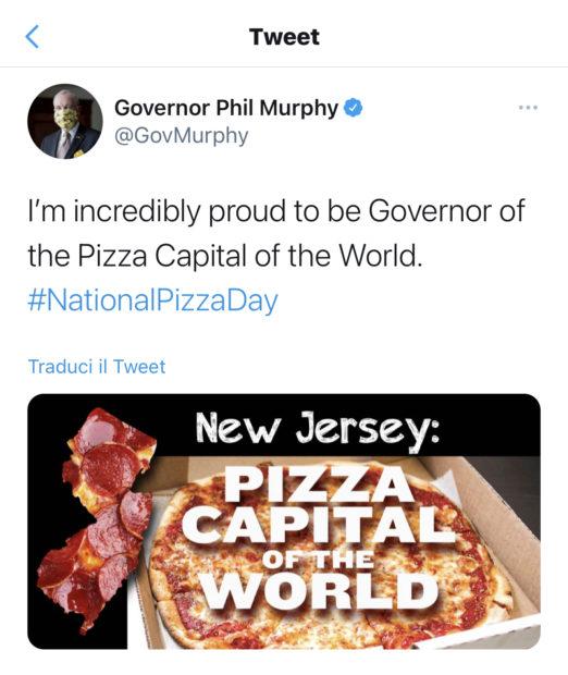 Tweet governatore New Jersey Phil Murphy