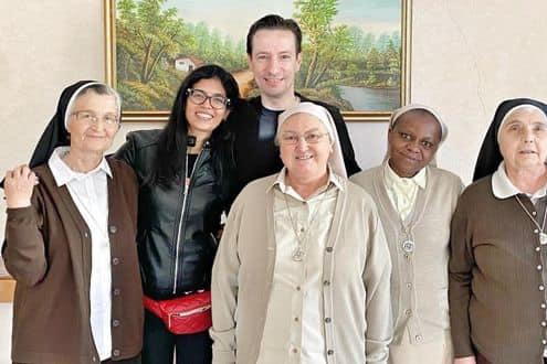 L'ambasciatore italiano del Congo Luca Attanasi con la moglie