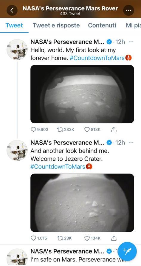 tweet da Marte