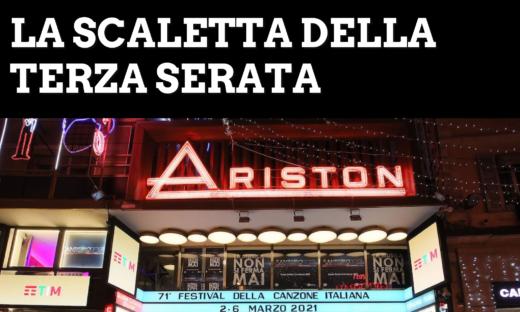 Sanremo 2021: la scaletta della terza serata. Ecco gli ospiti e i cantanti in gara
