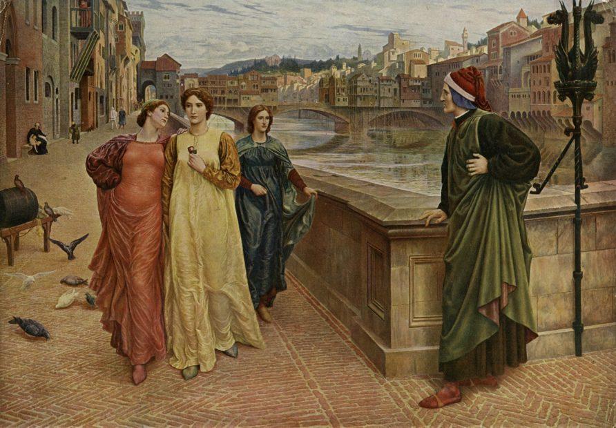 Dante vede la sua amata Beatrice 1280