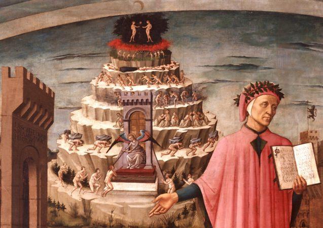 Dante e la montagna del Purgatorio