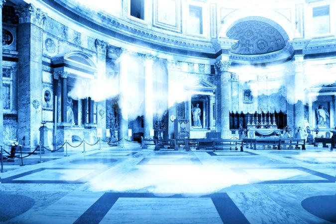 Luce diurna nel Pantheon di Roma grazie a Inside Out @Cosimo Scotucci