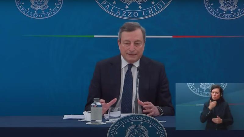 Draghi oggi conferenza Decreto Sostegno