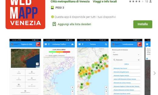 Buone pratiche dei comuni: la WebMapp della Città Metropolitana di Venezia