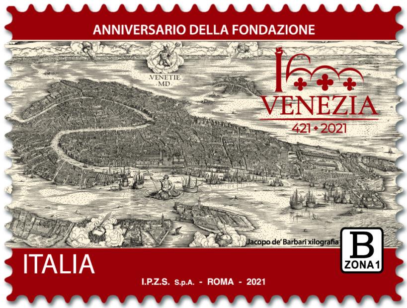 Poste Italiane: emesso il francobollo per i 1600 anni di Venezia