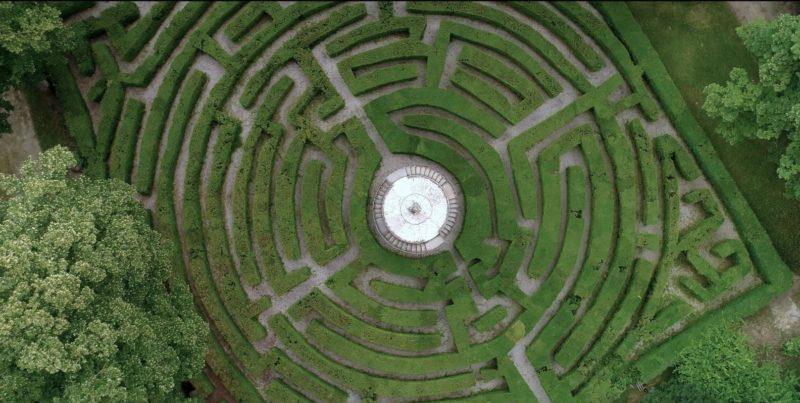 Labirinto Villa Pisani progetto Volotea