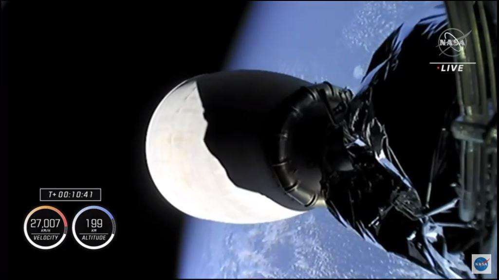 Spazio: lanciata la navetta Crew Dragon.