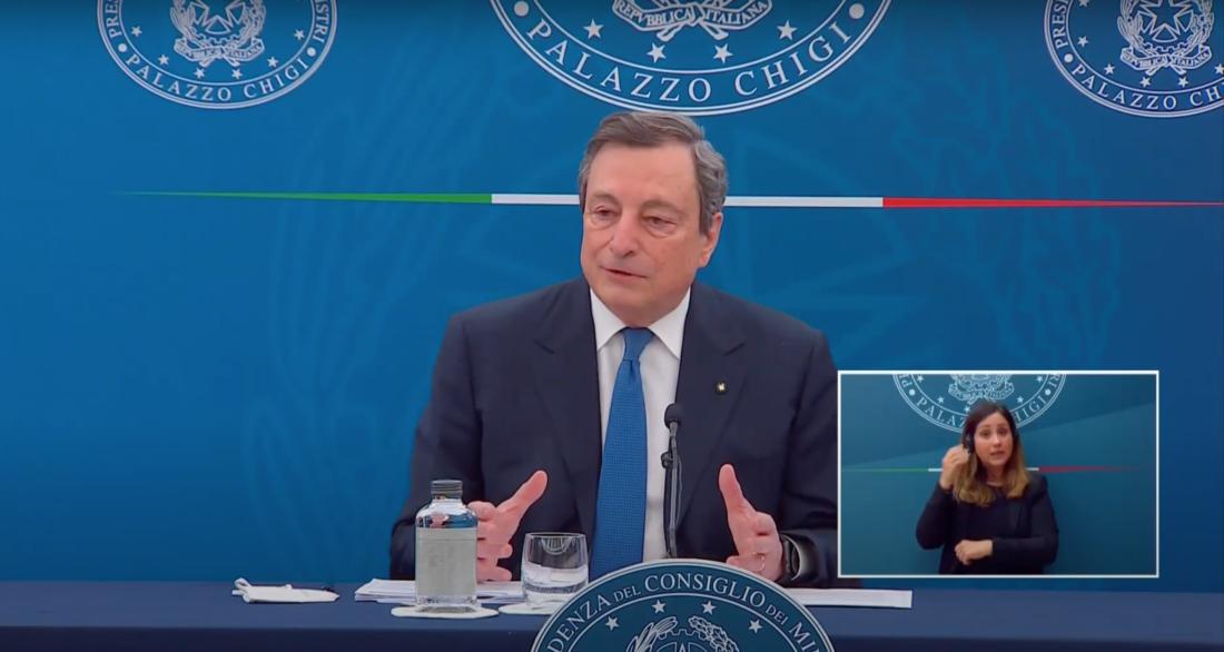 La conferenza stampa del Presidente Mario Draghi: diretta video