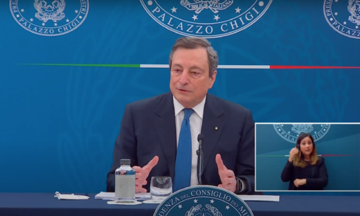 La conferenza stampa del Presidente Mario Draghi: diretta video