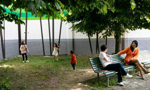 Il giardino dipinto che a Milano assorbe lo smog
