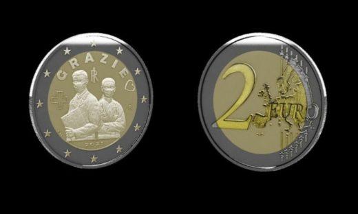 Una moneta speciale: l'Italia ringrazia gli operatori sanitari