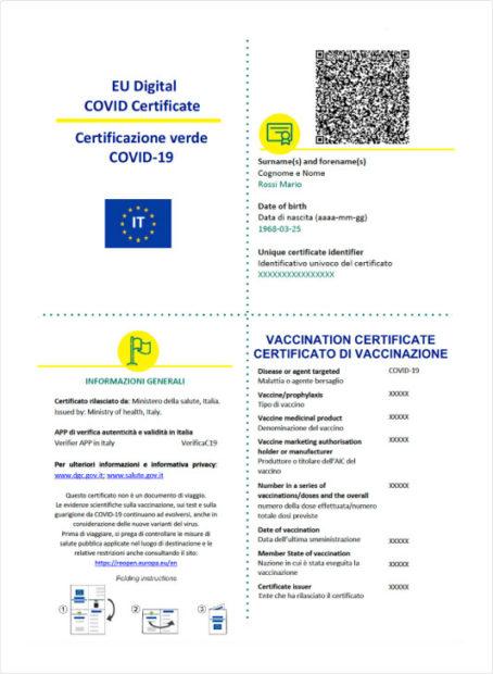 Certificazione verde covid 19 cartacea_ ww.dgc.gov.it