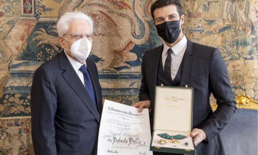 Roberto Bolle Grande Ufficiale della Repubblica