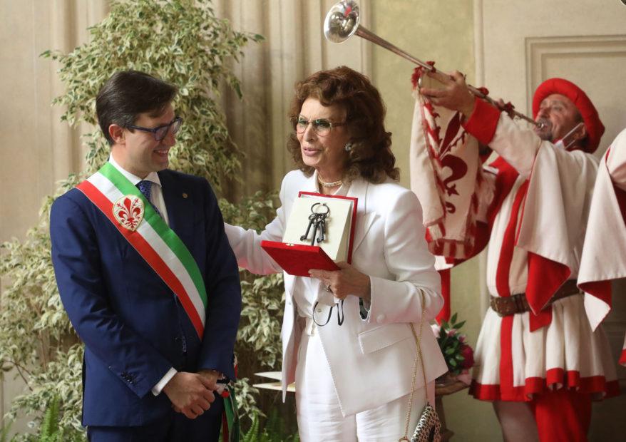 A Sophia Loren le chiavi della città di Firenze