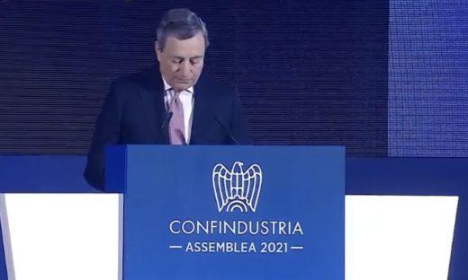"""Il premier Draghi agli industriali: """"serve un Patto per l'Italia"""""""