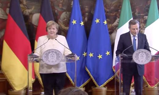 "Draghi: ""Merkel campionessa di multilateralismo"""
