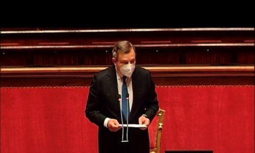 Draghi ai Parlamenti G20: pandemia sotto controllo, ma ancora troppe morti